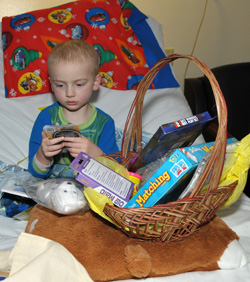 Riley Kid with Super Baskets of Hope